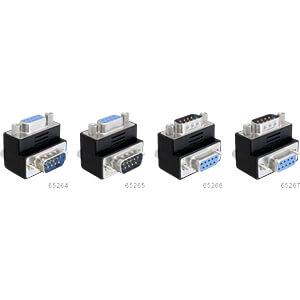 Adapter Sub-D 9 Pin Stecker > Buchse 270° gewinkelt DELOCK 65267