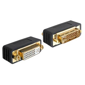 Adapter DVI 24+5 Stecker > DVI 24+5 Buchse DELOCK 65298