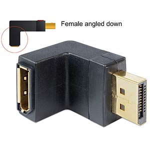 Adapter DP 1.1 Stecker > Buchse unten DELOCK 65382