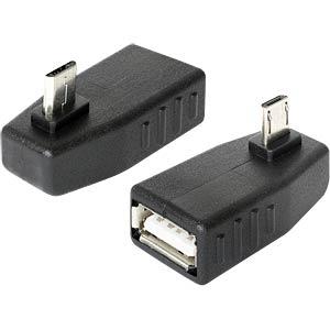 USB Micro B Stecker auf USB A Buchse OTG 270° gewinkelt DELOCK 65473