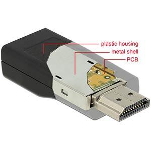 Adapter HDMI male > VGA female black DELOCK 65655