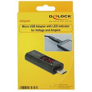 USB Micro B Stecker auf Buchse, Anzeige DELOCK 65656