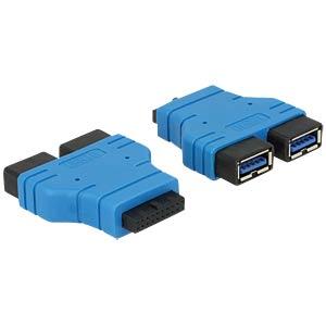 USB 3.0 Pinheader Buchse auf 2x USB 3.0 A Buchse DELOCK 65670