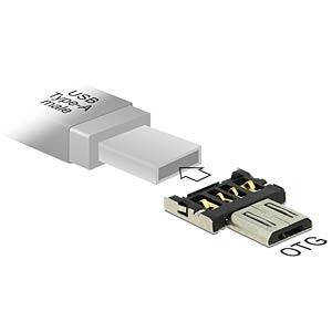 OTG USB Micro B Stecker auf USB A Stecker DELOCK 65681