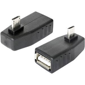 USB Micro B Stecker auf USB A Buchse OTG 90° gewin. DELOCK 65474