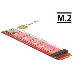 DELOCK 65921 - Delock Adapter M.2 Key B > M.2 Key B + Nano SIM