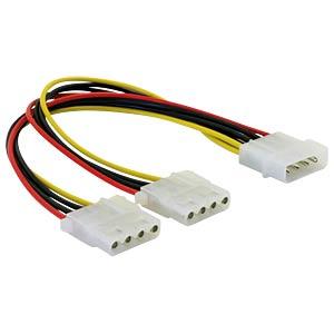 Y-Kabel Stromversorgung, 2x 5,25 DELOCK 82100