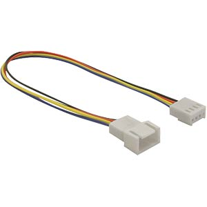 4-pin, 20-cm Molex extension, plug <> socket DELOCK 82429
