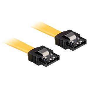 Kabel SATA 10cm gelb ge/ge Metall DELOCK 82464