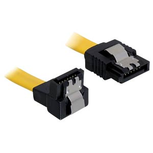 Cable SATA 10cm yellow un/ge Metall DELOCK 82469