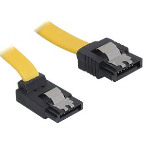 Cable SATA 30cm yellow ob/ge Metall DELOCK 82472