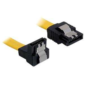 Cable SATA 30cm yellow un/ge Metall DELOCK 82474