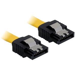 Kabel SATA 70cm gelb ge/ge Metall DELOCK 82481