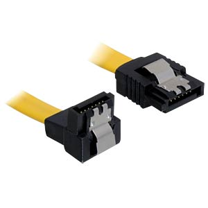 Kabel SATA 70cm gelb un/ge Metall DELOCK 82482