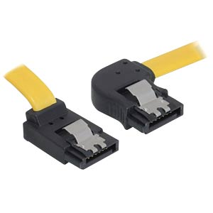 Cable SATA 30cm yellow re/ob Metall DELOCK 82523