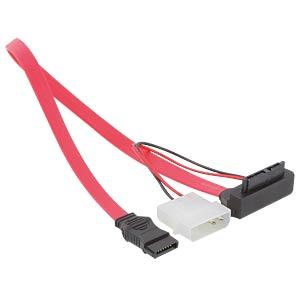 slim SATA 13 Pin Bu > 7 Pin + 5 V angulated 30cm DELOCK 82549