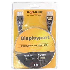 Delock Displayport plug > plug 2-m PREMIUM cable DELOCK 82771