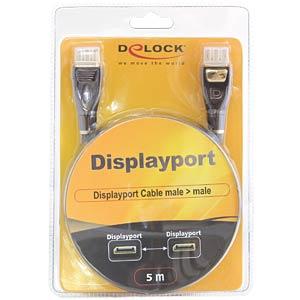 Delock Kabel Displayport Stecker > Stecker 5 m PREMIUM DELOCK 82773