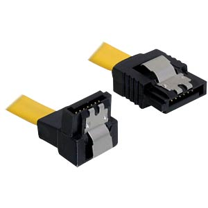 Cable SATA 6 Gb/s str/do 30 cm yellow Metall DELOCK 82806