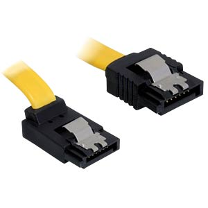 Cable SATA 6 Gb/s str/up 50 cm yellow Metall DELOCK 82810
