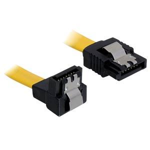 Kabel SATA 6 Gb/s ge/un 50 cm gelb Metall DELOCK 82811