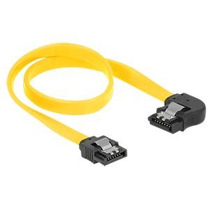 Cable SATA 6 Gb/s str/le 30 cm yellow Metall DELOCK 82824