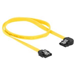Kabel SATA 6 Gb/s ge/li 50 cm gelb Metall DELOCK 82825