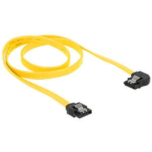 Cable SATA 6 Gb/s str/le 70 cm yellow Metall DELOCK 82826