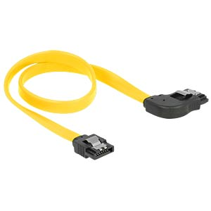 Cable SATA 6 Gb/s str/ri 30 cm yellow Metall DELOCK 82828