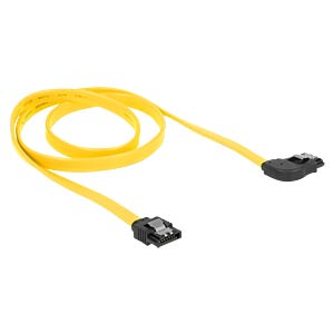 Cable SATA 6 Gb/s str/ri 70 cm yellow Metall DELOCK 82830