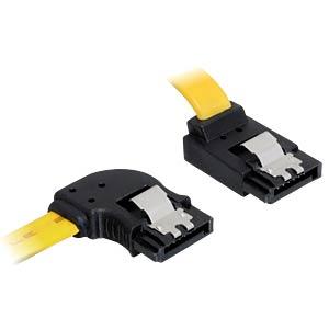 Cable SATA 6 Gb/s li/ob 50 cm yellow Metall DELOCK 82837
