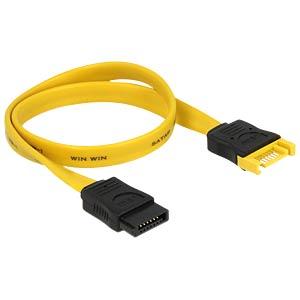 Kabel SATA 6 Gb/s Stecker>Buchse 30 cm gelb DELOCK 82855
