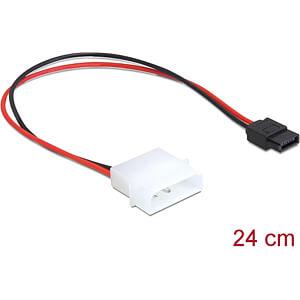 Kabel Power Molex 4 Pin Stecker > SATA 6 Pin Buchse 24,5 cm DELOCK 82913