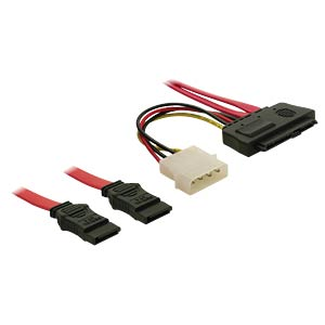 SAS 29 Pin SFF-8482 + 4 Pin Power>2x SATA 7 Pin DELOCK 83054
