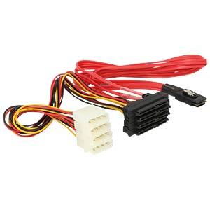 miniSAS SFF-8087>4x SAS SFF-8482 + Power 0,5 m DELOCK 83059