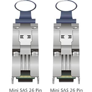 Mini SAS 26-pin to mini SAS 26-pin (SFF 8088), 1 m DELOCK 83061