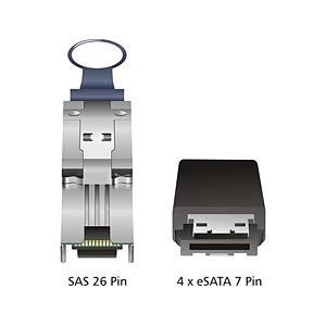 miniSAS SFF-8088>4x eSATA 1 m DELOCK 83064