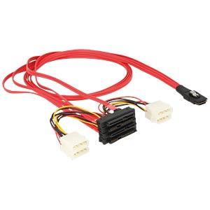 miniSAS SFF-8087 > 4x SAS SFF-8482 + Power 1 m DELOCK 83146