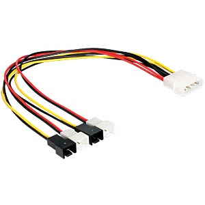 4-pin Molex plug > 4 x 2-pin fan DELOCK 83343