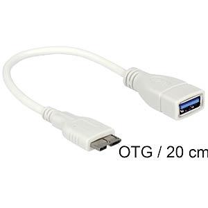 OTG micro USB 3.0 > USB 3.0 A socket cable DELOCK 83469
