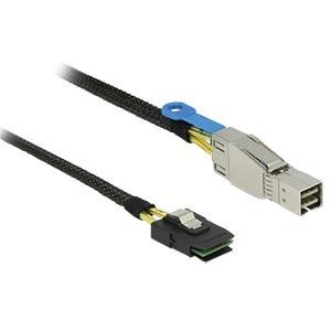m.SAS HD SFF8644>m.SAS SFF8087 1m DELOCK 83616