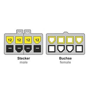 8 Pin EPS Verlängerung (teilbar) St / Bu 44 cm DELOCK 83653