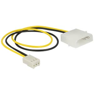 Power Cable 2 pin male > 3 pin female (fan) 30 cm DELOCK 83659