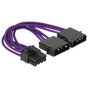 Stromkabel PCI Express 8 Pin Ste.>2 x 4 Pin Ste. DELOCK 83705