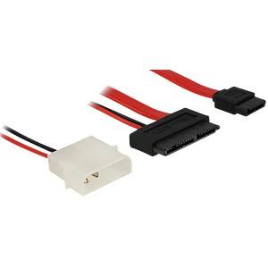 Cable Micro SATA male + 2 pin Power 5 V > SATA 7 pin 60 cm DELOCK 83795