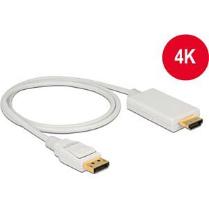 Delock Kabel DP 1.2 Stecker > HDMI-A Stecker, weiß, 1 m DELOCK 83817