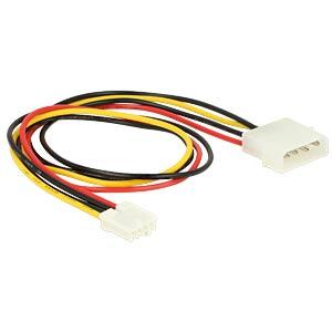 Molex 4-Pin Stecker > Floppy 4-Pin Buchse 40cm DELOCK 83821