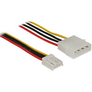 Cable Power 4 pin male > 4 pin floppy female 60 cm DELOCK 83822