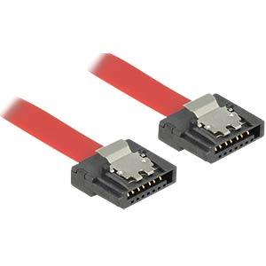 Kabel SATA FLEXI 6 Gb/s  10 cm rot Metall DELOCK 83832