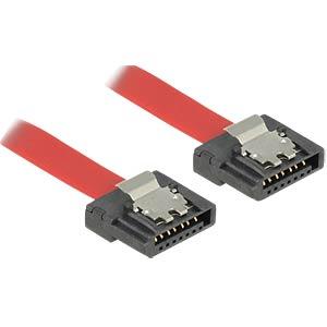 Cable SATA FLEXI 6 Gb/s 30 cm red metal DELOCK 83834